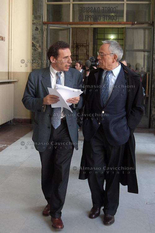 Gli avvocati ALESSANDRO SAMMARCO e CESARE PREVITI