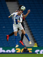 Brighton & Hove Albion's Glenn Murray (left) battles with Huddersfield Town's Christopher Schindler <br /> <br /> Photographer David Horton/CameraSport<br /> <br /> The Premier League - Brighton and Hove Albion v Huddersfield Town - Saturday 2nd March 2019 - The Amex Stadium - Brighton<br /> <br /> World Copyright © 2019 CameraSport. All rights reserved. 43 Linden Ave. Countesthorpe. Leicester. England. LE8 5PG - Tel: +44 (0) 116 277 4147 - admin@camerasport.com - www.camerasport.com