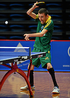 Nathan Crawley (AUS)<br /> 2013 ITTF PTT Oceania Regional<br /> Para Table Tennis Championships<br /> AIS Arena Canberra ACT AUS<br /> Wednesday November 13th 2013<br /> © Sport the library / Jeff Crow