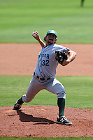 Daytona Tortugas pitcher Zack Weiss (32) delivers a pitch during a game against the Charlotte Stone Crabs on April 14, 2015 at Charlotte Sports Park in Port Charlotte, Florida.  Charlotte defeated Daytona 2-0.  (Mike Janes/Four Seam Images)