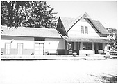 Front view of reconstructed RGS Dolores depot as visitor center.<br /> RGS  Dolores, CO  after 1991