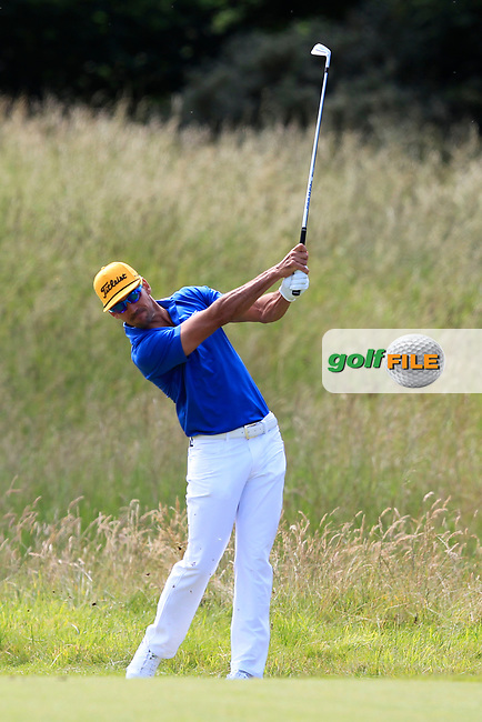 Rafa Cabrera Bello (ESP) on the 2nd during Round 4 of the Aberdeen Standard Investments Scottish Open 2019 at The Renaissance Club, North Berwick, Scotland on Sunday 14th July 2019.<br /> Picture:  Thos Caffrey / Golffile<br /> <br /> All photos usage must carry mandatory copyright credit (© Golffile | Thos Caffrey)