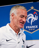French Head Coach Didier Deschamps during the France National Team Press conference ahead of the match with England tomorrow evening at Stade de France, Paris, France on 12 June 2017. Photo by David Horn / PRiME Media Images.