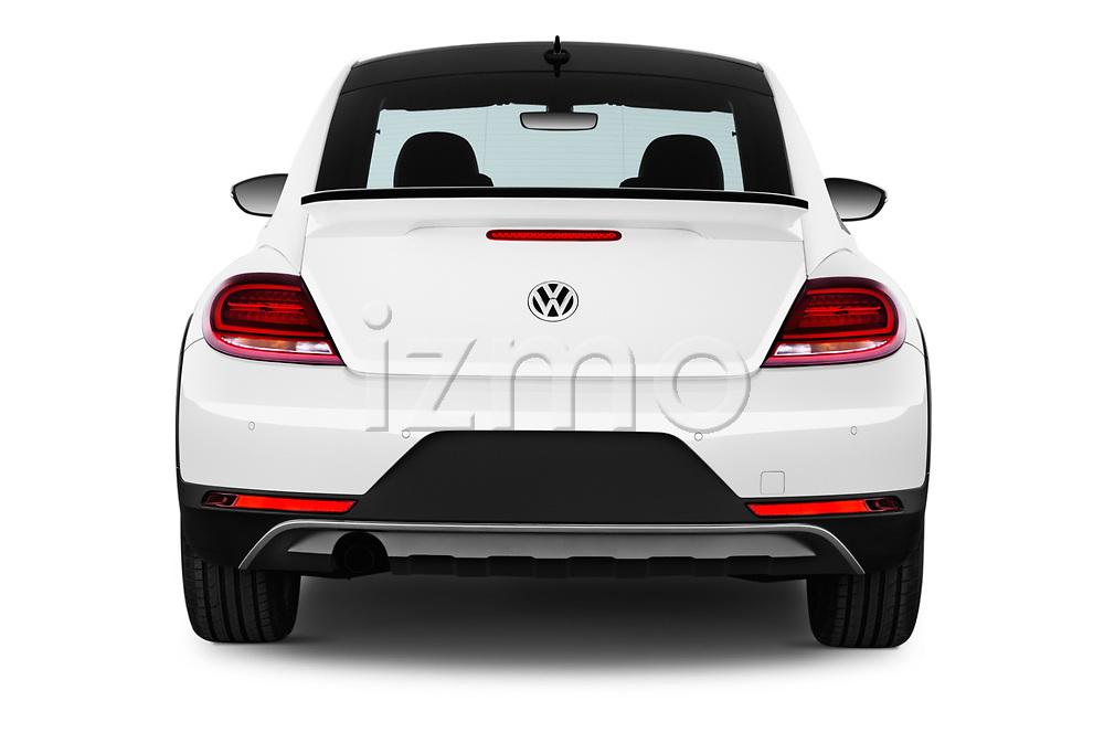 Straight rear view of 2017 Volkswagen Beetle Dune 3 Door Hatchback stock images