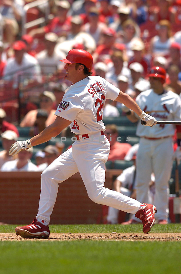 Scott Spiezio, of the St. Louis Cardinals, in action against the Los Angeles Dodgers on July 16, 2006 in Chicago...Cards win 11-3..Chris Bernacchi/ SportPics