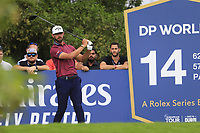Erik Van Rooyen (RSA) on the 14th tee during the 1st round of the DP World Tour Championship, Jumeirah Golf Estates, Dubai, United Arab Emirates. 21/11/2019<br /> Picture: Golffile | Fran Caffrey<br /> <br /> <br /> All photo usage must carry mandatory copyright credit (© Golffile | Fran Caffrey)