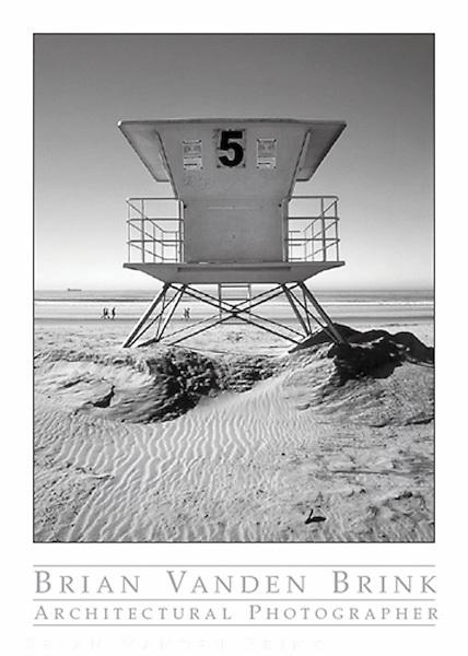 LIFEGUARD STATION #5<br /> Coronado, California<br /> photograph © Brian Vanden Brink, 2007