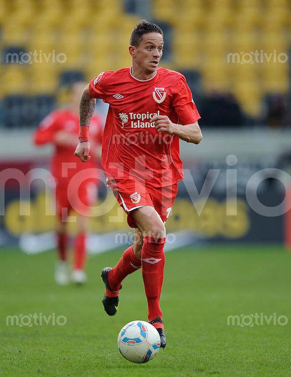 Fussball 2. Bundesliga Saison 2011/2012 18. Spieltag Dynamo Dresden - FC Energie Cottbus Christian MUELLER (Cottbus).