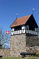 Glockenturm auf  Christians&oslash;, Ertholmene (Erbseninseln) bei Bornholm, D&auml;nemark, Europa<br /> Belltower on Christians&oslash;, Ertholmene, Isle of Bornholm Denmark