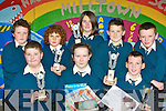 Quiz masters from Milltown NS who won the Milltown Credit Union school quiz in Milltown on Friday night front row l-r: Tom Keane, Norma McCarthy, Dylan O'Neill. Back row: David Murphy, Christopher Flynn, Roisin Whelan, Oisin Bolger and Killian Kerins..