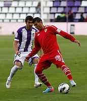 Real Valladolid´s Balenziaga (l) V Sevilla´s Reyes (r) during La Liga match. March 28, 2010. (ALTERPHOTOS/Víctor J Blanco)