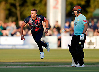 Hardus Viljoen bowls for Kent during Kent Spitfires vs Surrey, Vitality Blast T20 Cricket at the St Lawrence Ground on 23rd August 2019