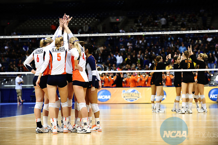 15 DEC 2011:  Illinois takes on USC during the semi-finals of the Division I Women's Volleyball Championship held at the Alamodome in San Antonio, TX. Illinois defeated USC 3-2. Joshua Duplechian/NCAA Photos