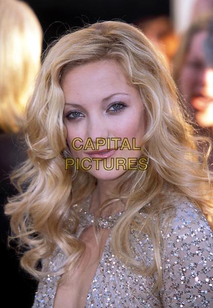 KATE HUDSON.Golden Globe Awards 2002.Ref: 11372.portrait headshot, curls, sequins.sales@capitalpictures.com.www.capitalpictures.com.©Capital Pictures
