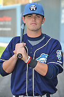 Brett Tanos #9 of the Asheville Tourists poses during media day at McCormick Field on April 4, 2011 in Asheville, North Carolina.  Photo by Tony Farlow / Four Seam Images..