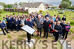 MEP Sean Kelly and Tommy Frank O'Connor unveiled  a Commemorative Plaque in memory of the Men and Women who died in the fight for Irish freedom. on Thursday in CURROW by Currow rural Developments and Tidy Towns