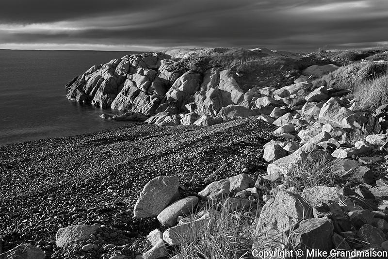 Sunset on rocky shoreline of Chedabucto Bay (Atlantic Island)<br />Fox Island<br />Nova Scotia<br />Canada