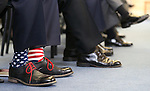 Former Navy Seal Lt. Jason Redmon sports patriotic socks for the USS Nevada Centennial Ceremony at the Capitol in Carson City, Nev., on Friday, March 11, 2016. Cathleen Allison/Las Vegas Review-Journal