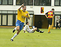 01/09/2007       Copyright Pic: James Stewart.File Name : sct_jspa07_partick_v_hamilton.STUART TAYLOR SCORES CELEBRATES AFTER HE SCORES HAMILTON'S THIRD GOAL....James Stewart Photo Agency 19 Carronlea Drive, Falkirk. FK2 8DN      Vat Reg No. 607 6932 25.Office     : +44 (0)1324 570906     .Mobile   : +44 (0)7721 416997.Fax         : +44 (0)1324 570906.E-mail  :  jim@jspa.co.uk.If you require further information then contact Jim Stewart on any of the numbers above........