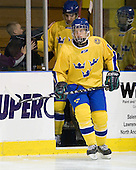 Rickard Rakell (Sweden - 19) - The Merrimack College Warriors defeated the visiting Sweden Under 20 team 4-1 on Tuesday, November 2, 2010, at Lawler Arena in North Andover, Massachusetts.