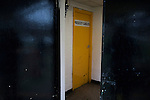 The home team dressing room door pictured at half-time as Prescot Cables take on Brighouse Town in a Northern Premier League division one north fixture at Valerie Park. Founded in 1884, the 'Cables' in their name came from the largest local employer, British Insulated Cables and they have played in their current ground, also known as Hope Street, since 1906. Prescott won the match 2-1 watched by a crowd of 189.