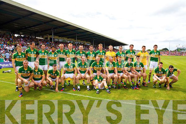 Kerry Team before the Munster senior football Final at Fitzgerald Stadium in Killarney on Sunday.