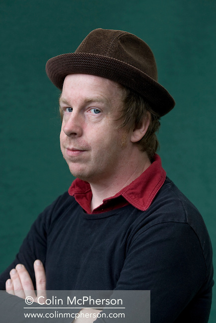 British writer Kevin Barry, pictured at the Edinburgh International Book Festival where he talked about his acclaimed debut novel entitled 'City of Bohane'. The three-week event is the world's biggest literary festival and is held during the annual Edinburgh Festival. The 2011 event featured talks and presentations by more than 500 authors from around the world..