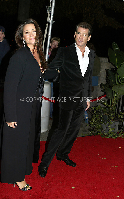 WWW.ACEPIXS.COM ** ** ** ..NEW YORK, NOVEMBER 8, 2004: Pierce Brosnan and wife arriving at 15th Annual Glamour Magazine Women of the year Awards...Please byline: Philip Vaughan -- ACE PICTURES... *** ***  ..Ace Pictures, Inc:  ..Alecsey Boldeskul (646) 267-6913 ..Philip Vaughan (646) 769-0430..e-mail: info@acepixs.com..web: http://www.acepixs.com