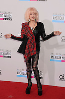 LOS ANGELES, CA - NOVEMBER 18: Cyndi Lauper attends the 40th Anniversary American Music Awards held at Nokia Theatre L.A. Live on November 18, 2012 in Los Angeles, California.PAP1112JP313..PAP1112JP313..