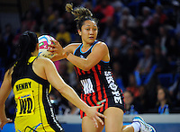 Erikana Pedersen in action during the ANZ Netball Championship match between the Central Pulse and Mainland Tactix at Te Rauparaha Arena, Wellington, New Zealand on Saturday, 11 May 2015. Photo: Dave Lintott / lintottphoto.co.nz