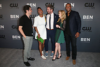BEVERLY HILLS, CA - AUGUST 4: Ben Lewis, Stephen Amell, Katherine McNamara, David Ramsey, Aisha Tyler, at The CW's Summer TCA All-Star Party at The Beverly Hilton Hotel in Beverly Hills, California on August 4, 2019. <br /> CAP/MPI/FS<br /> ©FS/MPI/Capital Pictures