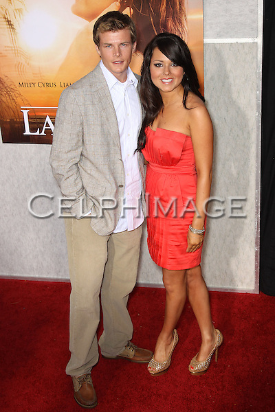 "HALLOCK BEALS, JESSICA TURRI. Arrivals to the LA Premiere of Touchstone Pictures, ""The Last Song,"" at the Arclight Hollywood Theatre. Los Angeles, CA, USA. March 25, 2010."