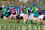 Laura Collins Kerry in action against Caoimhe McCrossan Westmeath in the 2019 Camogie League Division 2 at John Mitchells GAA grounds in Tralee, on Sunday.