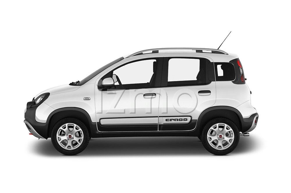Car Driver side profile view of a 2017 Fiat Panda Cross 5 Door SUV Side View