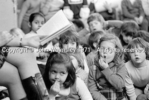 Storytime, Julian's Primary School, Streatham, London.  1971.