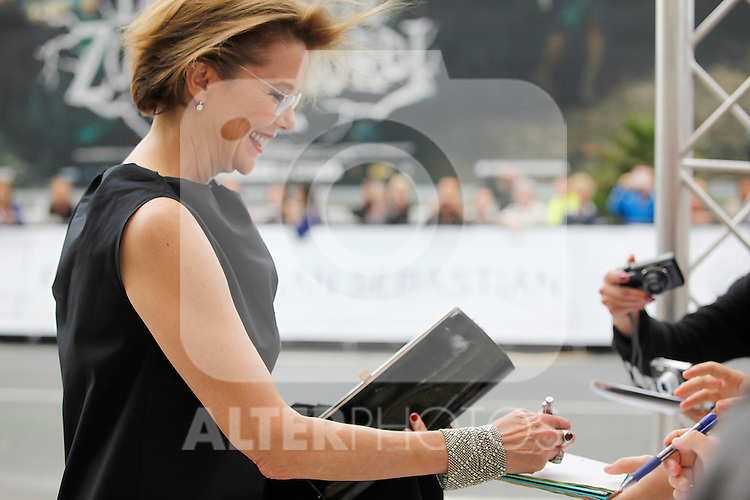 Actress Annette Bening arrives to Maria Cristina Hotel to attend the 61 San Sebastian Film Festival, in San Sebastian, Spain. September 20, 2013. (ALTERPHOTOS/Victor Blanco)