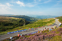 Picture by Alex Whitehead/SWpix.com - 09/09/2014 - Cycling - 2014 Friends Life Tour of Britain - Stage 3, Newtown to The Tumble - Riders climb up The Tumble near the finish of Stage 3.