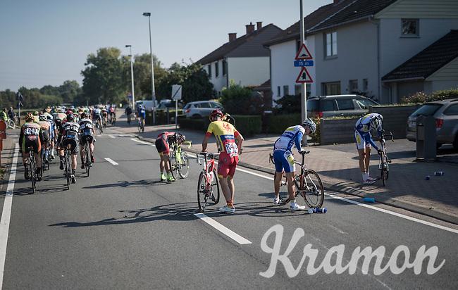 results of a mid-peloton crash<br /> <br /> 83rd Nationale Sluitingsprijs Putte-Kapellen 2016 (UCI Europe Tour cat 1.1 / 189km)