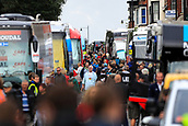 8th September 2017, Newmarket, England; OVO Energy Tour of Britain Cycling; Stage 6, Newmarket to Aldeburgh; Newmarket High Street comes to a stand still as teams coaches arrive