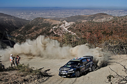 06.03.2014. GUANAJUATO, Mexico. The World Rally Championships (WRC) of Mexico.  Elfyn Evans (GB)- Daniel Barrit (GB)- Ford Fiesta WRC
