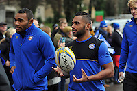 Niko Matawalu of Bath Rugby looks on prior to the match. Aviva Premiership match, between Bath Rugby and Worcester Warriors on December 27, 2015 at the Recreation Ground in Bath, England. Photo by: Patrick Khachfe / Onside Images