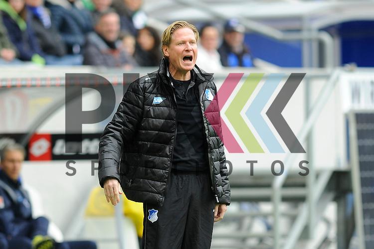 Hoffenheims Trainer Markus Gisdol an der Seitenlinie im Spiel der Bundesliga, TSG 1899 Hoffenheim - Borussia Moenchengladbach.<br /> <br /> Foto &copy; P-I-X.org *** Foto ist honorarpflichtig! *** Auf Anfrage in hoeherer Qualitaet/Aufloesung. Belegexemplar erbeten. Veroeffentlichung ausschliesslich fuer journalistisch-publizistische Zwecke. For editorial use only.