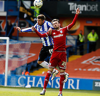 Sheffield Wednesday v Cardiff .Sky Bet Championship ....... Weds Gary Hooper with Cardiffs Scott Malone