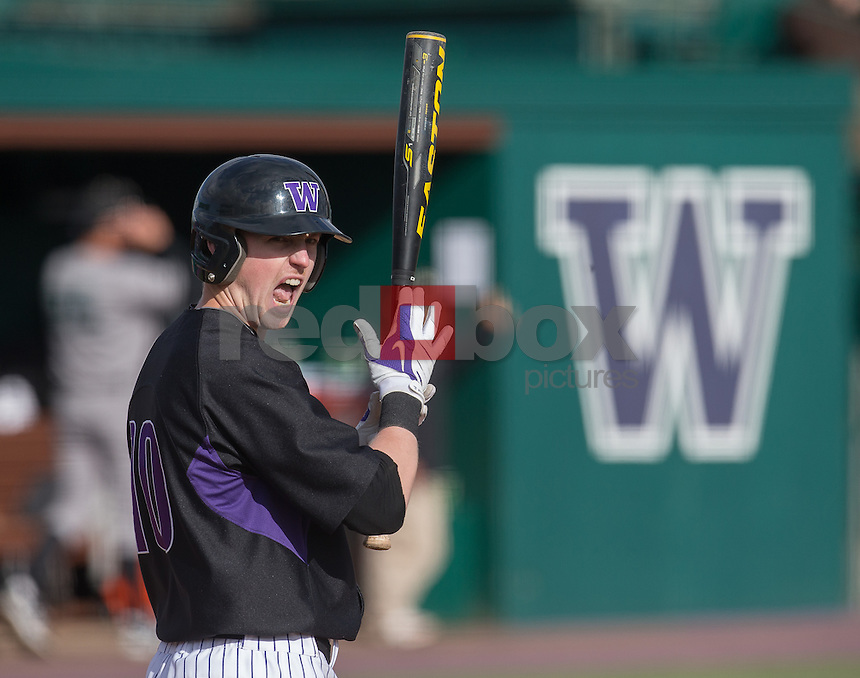 The University of Washington men's baseball team plays Cal Poly March 3, 2013. (Photography by Red Box Pictures)