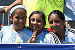22 July 2007: Three Argentina fans. At the National Soccer Stadium, also known as BMO Field, in Toronto, Ontario, Canada. Argentina's Under-20 Men's National Team defeated the Czech Republic's Under-20 Men's National Team 2-1 in the championship match of the FIFA U-20 World Cup Canada 2007 tournament.
