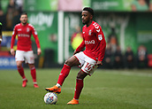 24th March 2018, The Valley, London, England;  English Football League One, Charlton Athletic versus Plymouth Argyle; Tariqe Fosu of Charlton Athletic stops with his foot on the ball to look for team mates