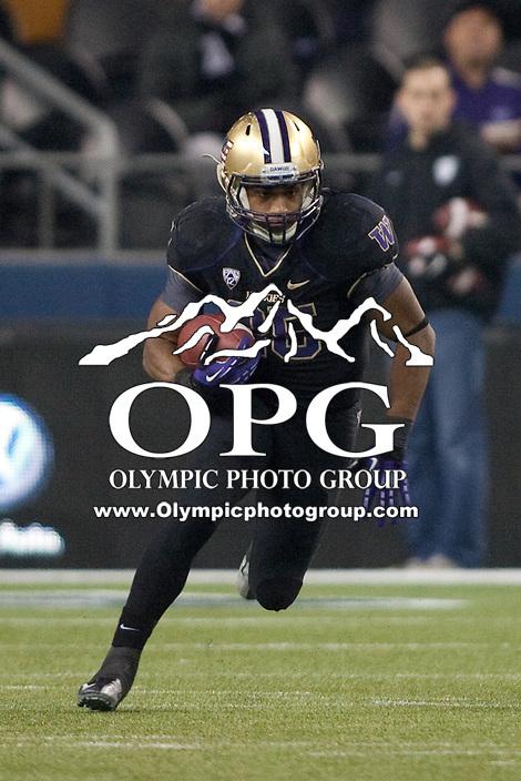 NOV 10, 2012:  Washington's Bishop Sankey against Utah.  Washington defeated Utah  34-15 at CenturyLink Field in Seattle, WA...