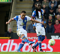 Blackburn Rovers' Elliott Bennett has an attempt on goal<br /> <br /> Photographer David Shipman/CameraSport<br /> <br /> The EFL Sky Bet Championship - Norwich City v Blackburn Rovers - Saturday 11th March 2017 - Carrow Road - Norwich<br /> <br /> World Copyright &copy; 2017 CameraSport. All rights reserved. 43 Linden Ave. Countesthorpe. Leicester. England. LE8 5PG - Tel: +44 (0) 116 277 4147 - admin@camerasport.com - www.camerasport.com