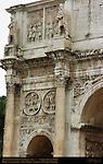 Arch of Constantine 315 AD South Side left Aurelian Reliefs and Roundels Constantinian Frieze Via Triumphalis Rome