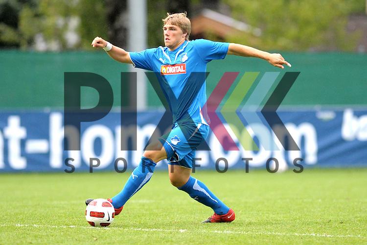 Leogang &Ouml;sterreich 28.07.2010, 1.Fu&szlig;ball Bundesliga Testspiel, TSG 1899 Hoffenheim - Antalyaspor, Hoffenheims Robin Neubert<br /> <br /> Foto &copy; Rhein-Neckar-Picture *** Foto ist honorarpflichtig! *** Auf Anfrage in h&ouml;herer Qualit&auml;t/Aufl&ouml;sung. Belegexemplar erbeten. Ver&ouml;ffentlichung ausschliesslich f&uuml;r journalistisch-publizistische Zwecke.